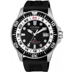 Montre pour Homme Citizen Promaster Diver's Eco-Drive Super Titane GMT BJ7110-11E