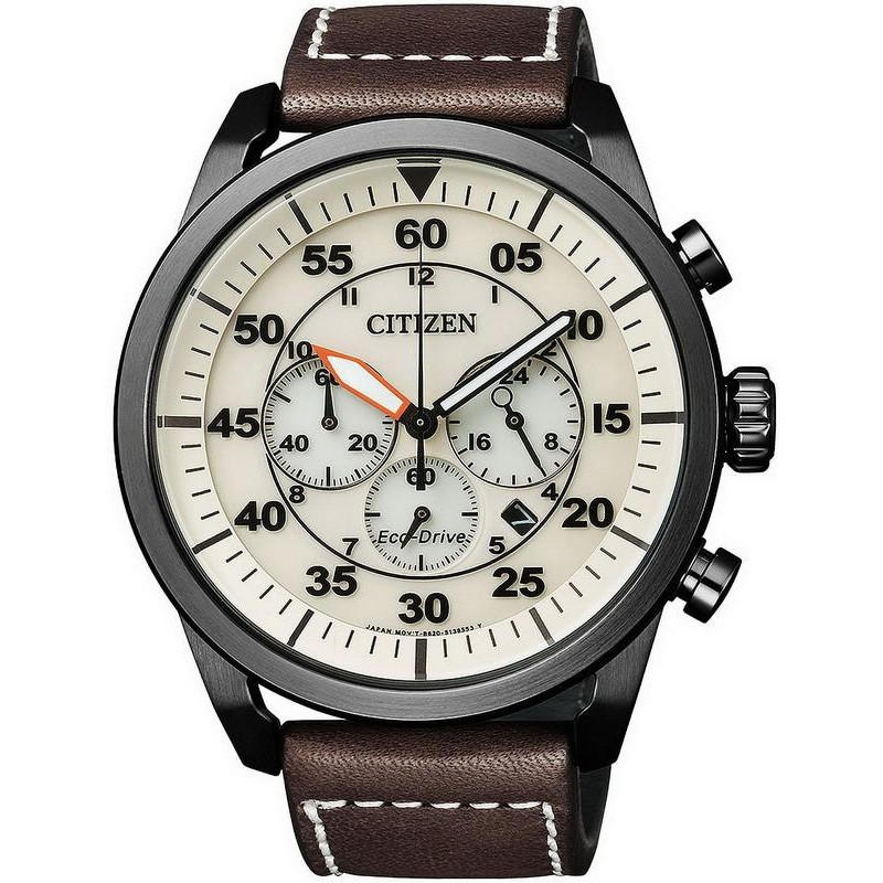 Citizen Men S Watch Aviator Chrono Eco Drive Ca4215 04w