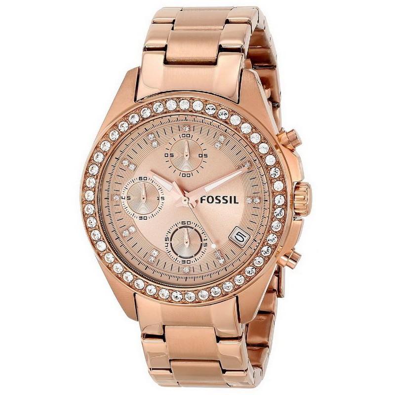 Montre pour Femme Fossil Decker Chronographe Quartz ES3352 Bijoux de Mode