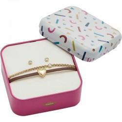 Acheter Bracelet + Boucles d'Oreilles Fossil Femme Vintage Motifs JF03050710