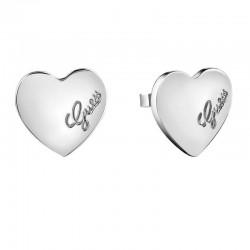 Acheter Boucles d'Oreilles Guess Femme Heartbeat UBE61053