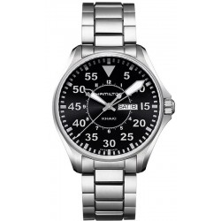 Montre Hamilton Homme Khaki Aviation Pilot Day Date Quartz H64611135