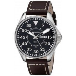 Montre Hamilton Homme Khaki Aviation Pilot Day Date Quartz H64611535