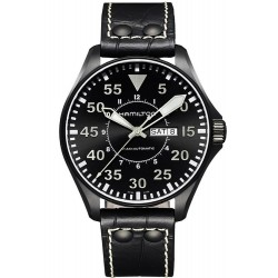 Montre Hamilton Homme Khaki Aviation Pilot Day Date Auto H64785835