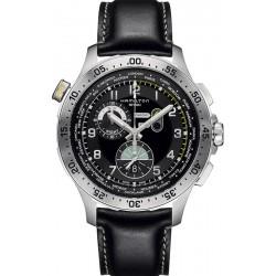 Montre Hamilton Homme Khaki Aviation Worldtimer Chrono Quartz H76714735