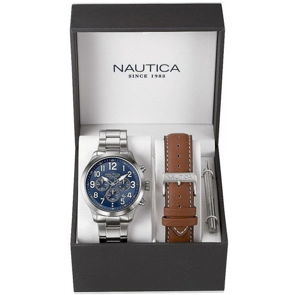 Acheter Montre Nautica Homme NCC 01 Box Set NAI18509G Chronographe
