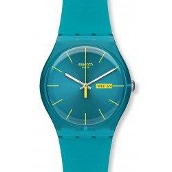 Montre Swatch Unisex New Gent Turquoise Rebel SUOL700