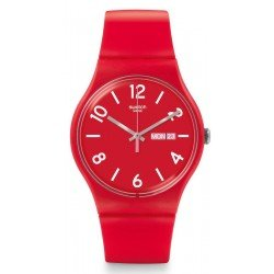 Montre Swatch Unisex New Gent Backup Red SUOR705