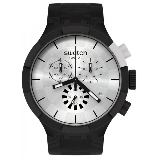 Acheter Montre Swatch Big Bold Chrono Chequered Silver SB02B404