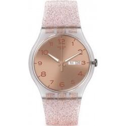 Montre Swatch Femme New Gent Pink Glistar SUOK703