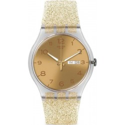 Montre Swatch Femme New Gent Golden Sparkle SUOK704