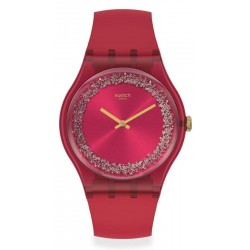Montre Swatch Femme New Gent Ruby Rings SUOP111