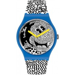 Montre Mickey Mouse Swatch Eclectic Mickey SUOZ336