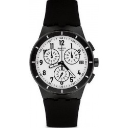 Montre Swatch Unisex Chrono Plastic Twice Again Black SUSB401