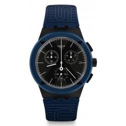Montre Swatch Unisex Chrono Plastic X-District Blue SUSB418