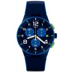 Acheter Montre Swatch Homme Chrono Plastic Bleu Sur Bleu SUSN409