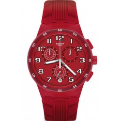 Acheter Montre Swatch Unisex Chrono Plastic Red Step SUSR404