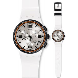 Montre Swatch Unisex Chrono Plastic White Blades SUSW405